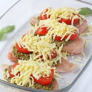Mozzarella, tomato & basil pesto chicken