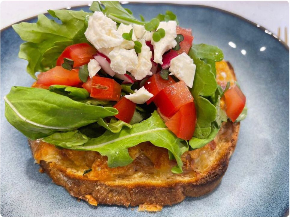 Cheesy Tuna Open Sandwich
