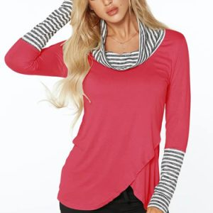 Rose-Roll-Neck-Stripe-Details-Overlay-Front-Top