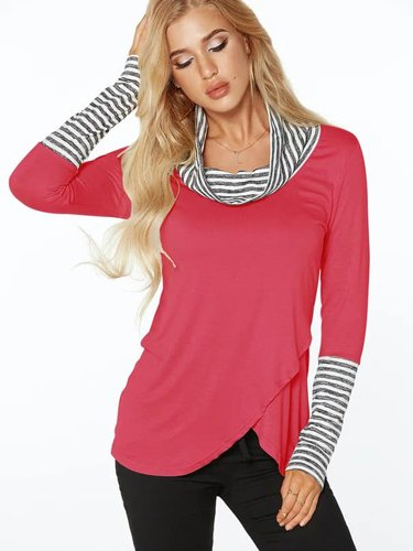 Rose-Roll-Neck-Stripe-Details-Overlay-Front-Top