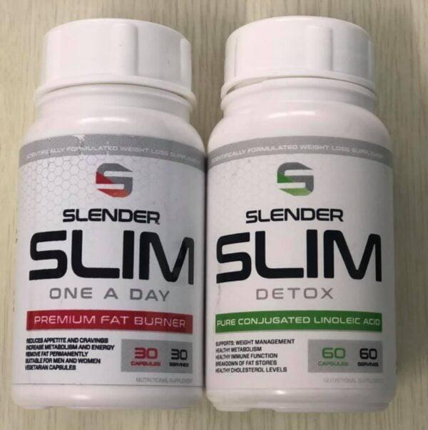 1 x Slender Slim One A Day Fat Burner Caps + 1 x Free Slender Slim Detox Caps